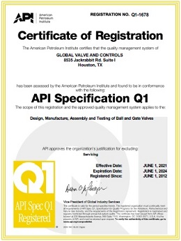 API-Specifications-Q1-Certification-Global-Valve-and-Controls-2021