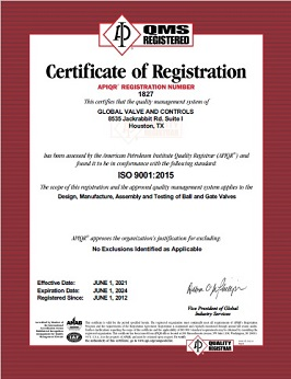 ISO-9001-API-American-Petroleum-Institute-Certification-Global-Valve-and-Controls-2021